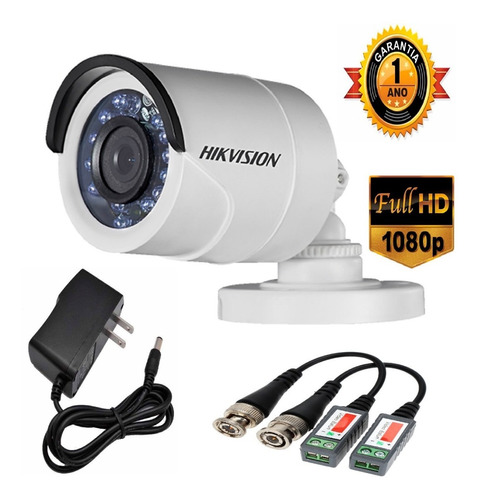 cctv hikvision fullhd1080p  kit dvr 8ch +4 camaras + d.d 1tb