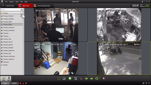 cctv hikvision (gvs)  kit dvr 4 + 4 camaras seguridad+cable