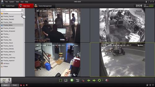 cctv hikvision (gvs) kit dvr 8 + 8 camaras seguridad + cable