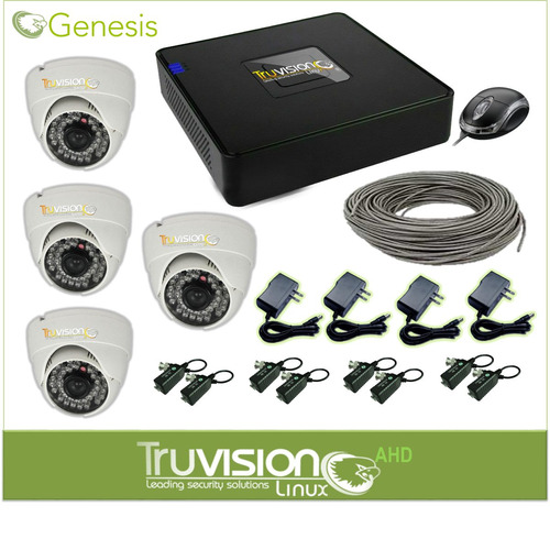 cctv kit 4 camaras de seguridad + cable+accesorios