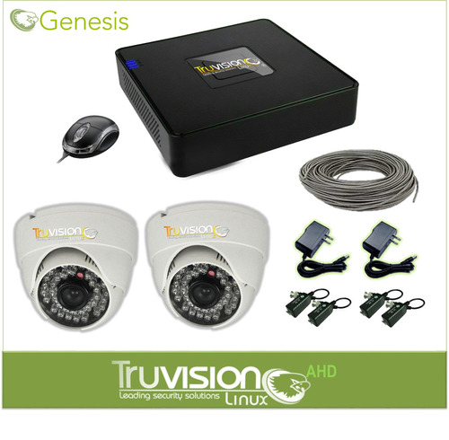 cctv kit 4 camaras de seguridad truvision full hd