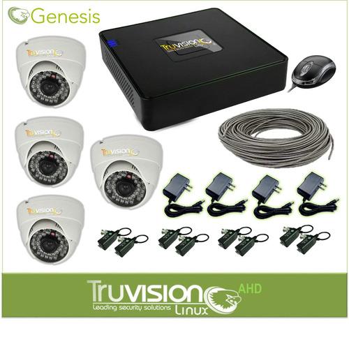 cctv kit 4 camaras de vigilancia hd mas accesorios