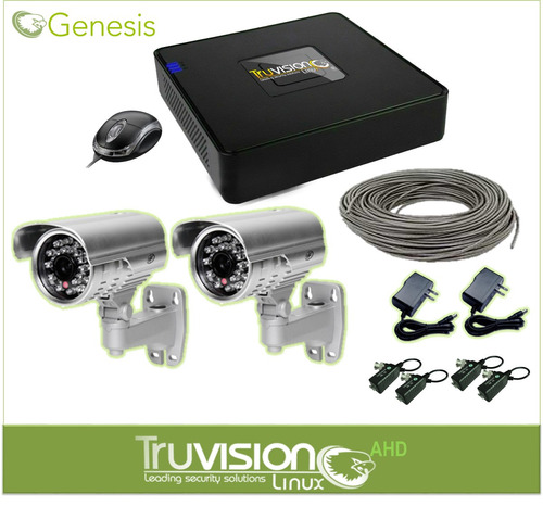 cctv kit 4 canales ahd truvision + cable+accesorios