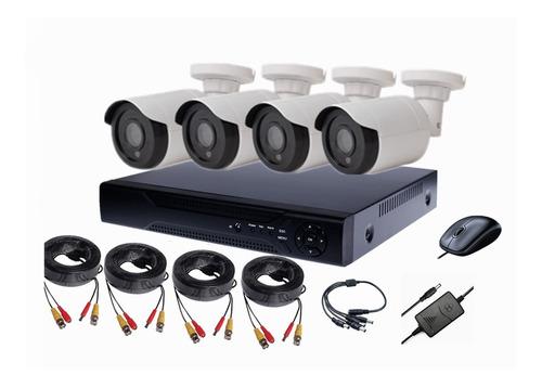 cctv kit ahd 720p de seguridad dvr 4 ch + 4 cam tienda9cl