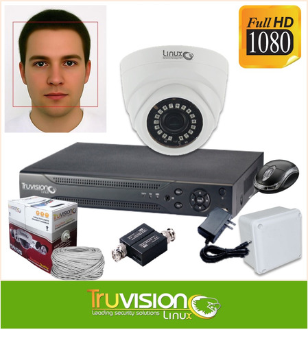 cctv kit alta resolución dvr 4ch + 1 camara de seguridad hd