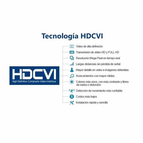 cctv kit alta resolución dvr 4ch + 4 camaras de seguridad hd