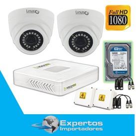 cctv kit camaras de vigilancia hd 1,3megapixeles +disco duro