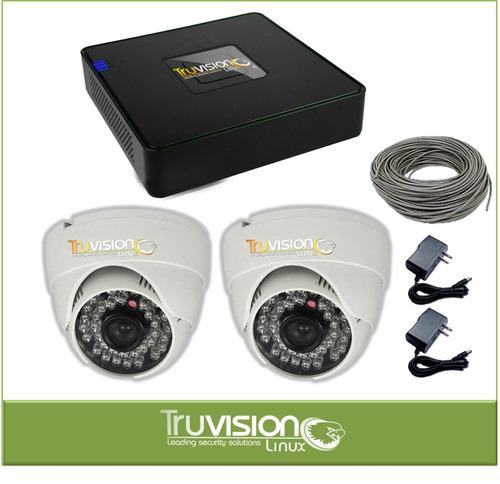 cctv kit de 4 camaras de seguridad + cable +accesorios lx-20