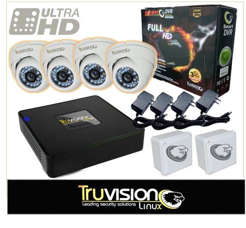 cctv kit de 4 camaras seguridad video vigilancia hdtruvision