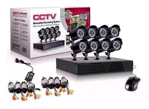 cctv kit de seguridad dvr + 8 camaras de seguridad