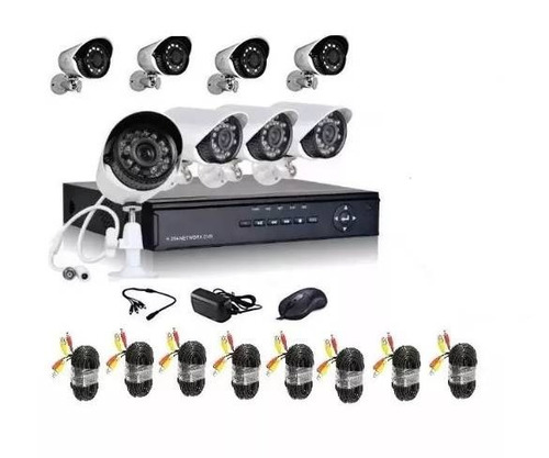 cctv kit de seguridad dvr + 8 cámaras envio gratis