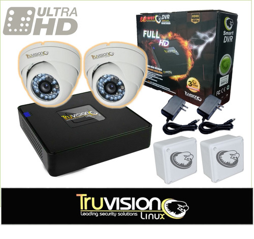 cctv kit de seguridad video vigilancia hd truvision