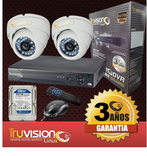 cctv kit dvr 4 ch +camaras de seguridad hd +disco