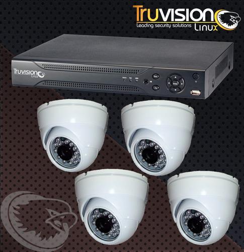 cctv kit dvr de 4 canales +  4 camaras de seguridadhd +cable
