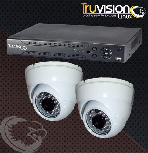 cctv kit dvr de 4 canales + camaras de seguridad +disco duro