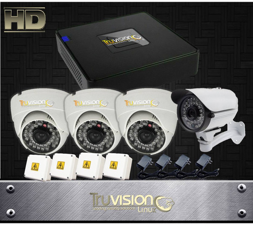 cctv kit dvr de 4 ch +camaras de seguridad full hd