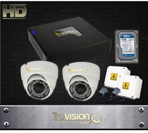 cctv kit dvr de 4 ch +camaras de seguridad hd+disco duro
