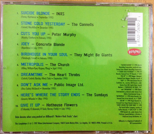 cd 1990 top modern rock tracks ( peter murphy concrete blond
