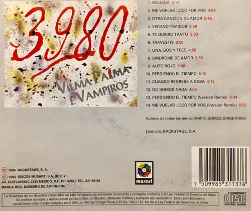 cd 3980 vilma palma e vampiros
