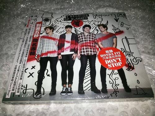 cd 5 seconds of summer deluxe taiwan com obi - 5sos