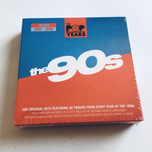 cd  90's     10 cds    the pop years   nuevo y sellado