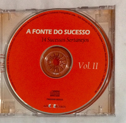cd a fonte do sucesso 14 sucessos sertanejos vol.2 (jbn)
