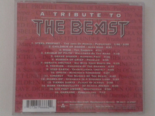 cd a tribute to the beast - tributo a iron maiden