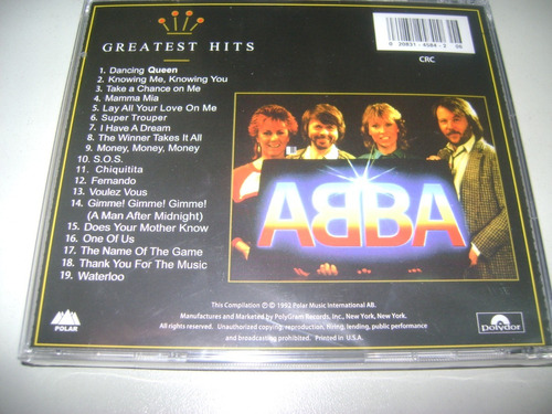 cd abba gold greatest hits ! original !