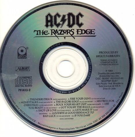 cd acdc the razors edge somente o cd