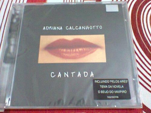 cd adriana calcanhoto / cantada -- lacrado  (frete grátis)