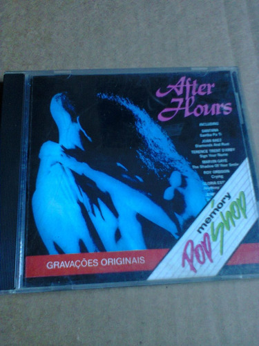 cd after hours memory pop shop santana,roy orbison,bangles..