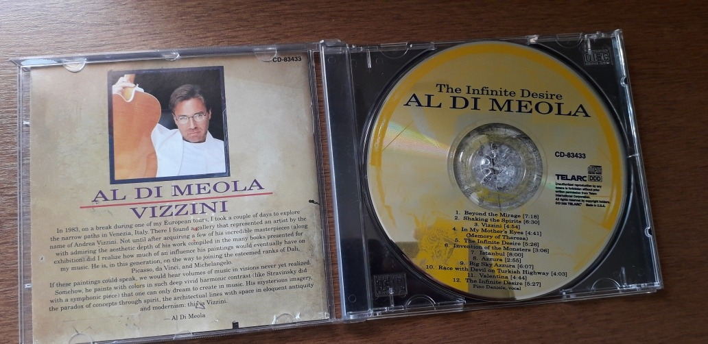Cd Al Do Meola The Infinite Desire