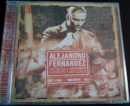 cd alejandro fernandez de mexico a madrid original y nuevo