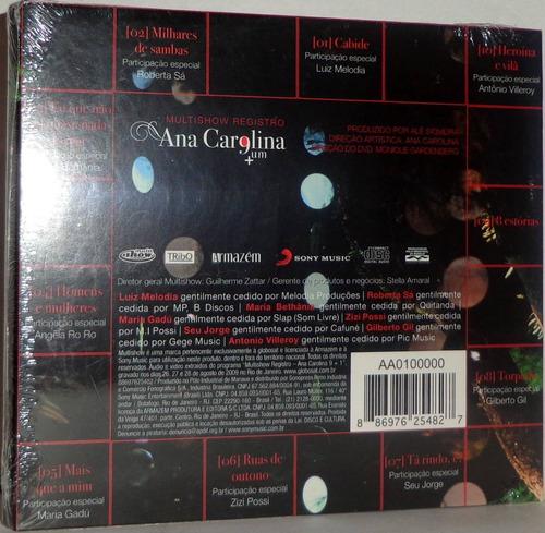 cd ana carolina - um + ( digipack )