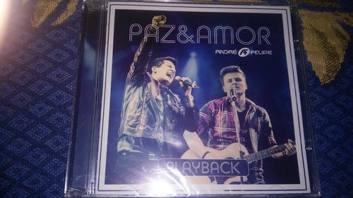 cd andré & felipe - paz & amor ao vivo - playback