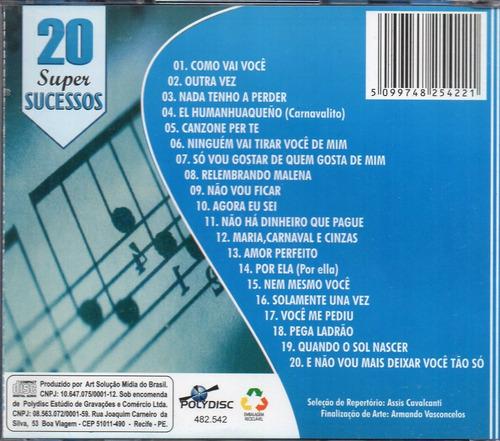 cd  andré mazzini 20 super sucessos roberto carlos instrumen