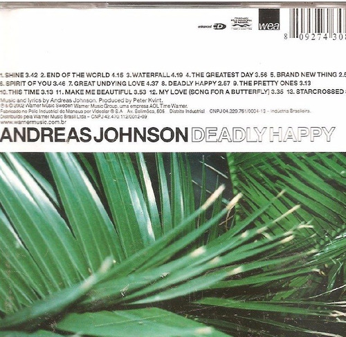 cd andreas johnson - deadly happy