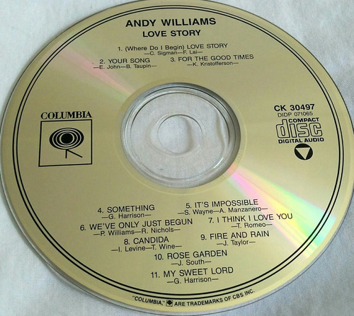 cd andy williams love story