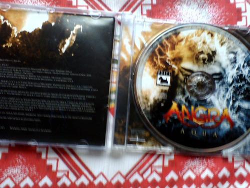 cd angra - aqua,autografado pelo rafael bittencourt