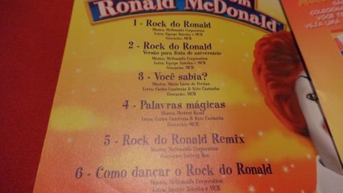 cd antigo mchits promoção dançando com ronald mcdonald´s