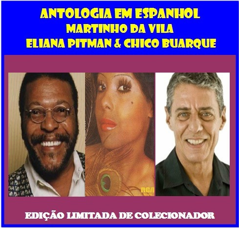 cd antologia em espanhol - martinho - eliana e chico buarque