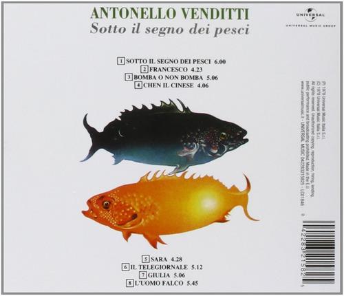 cd antonello venditti sollo il segno dei pesci - italia