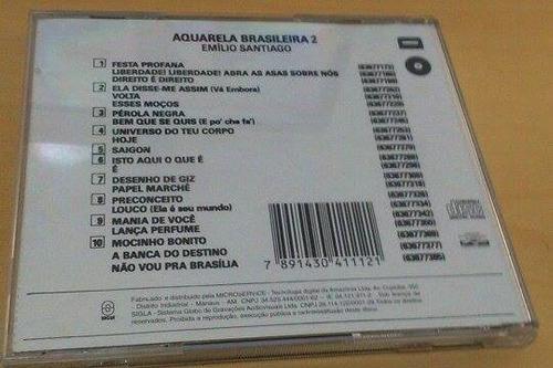 cd aquarela brasileira 2 - emílio santiago
