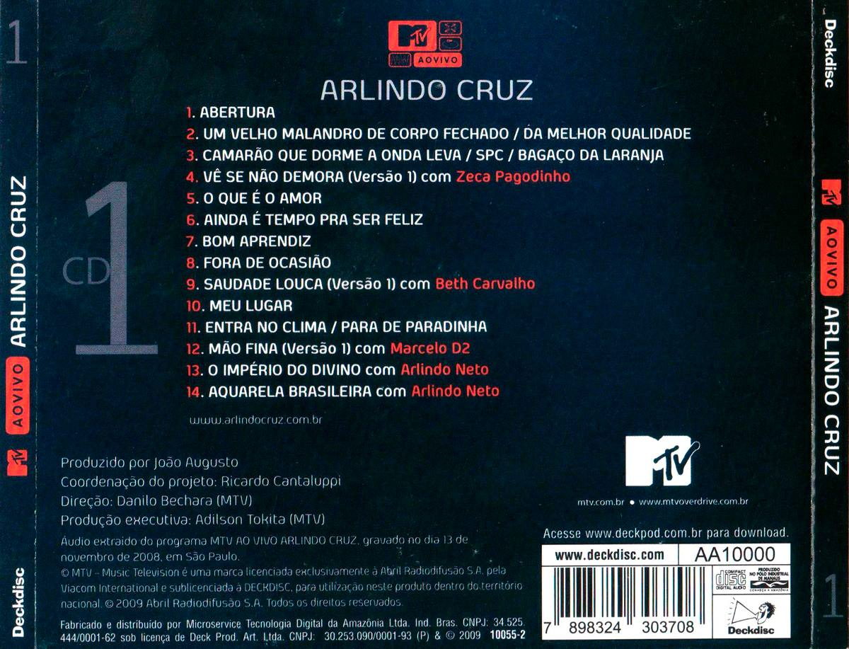 BAIXAR AUDIO VIVO ARLINDO AO CRUZ DVD MTV