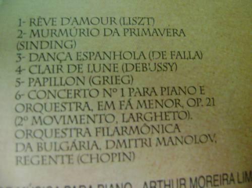 cd arthur moreira lima homenagem às mães revista caras 1999