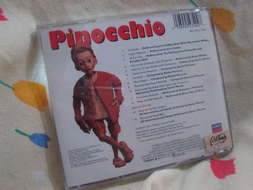 cd as aventuras de pinóquio trilha sonora stevie wonder