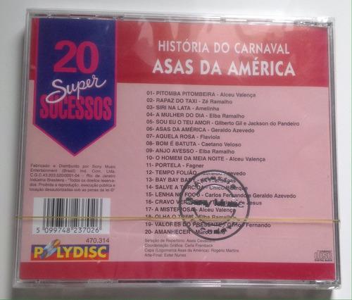 cd - asas da américa - promo - lacrado