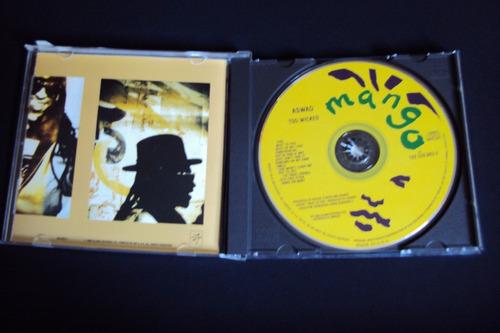 cd aswad - too wicked  - importado  (raro)