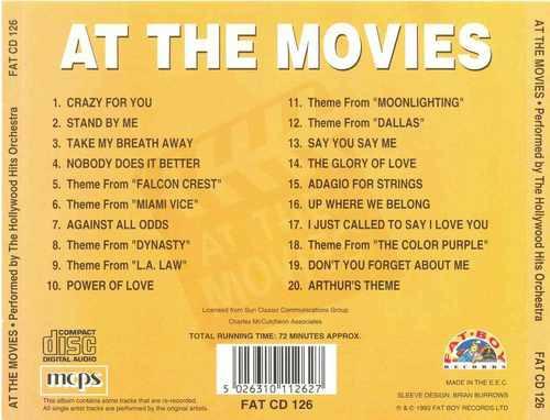 cd at the movies - hollywood orchestra - importado
