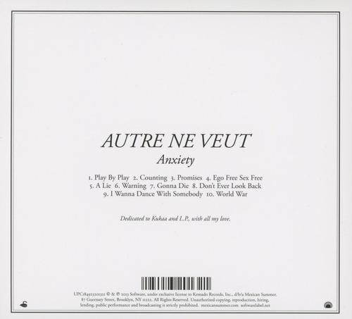 cd : autre ne veut - anxiety (cd)